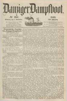 Danziger Dampfboot. Jg.31, № 206 (4 September 1861)