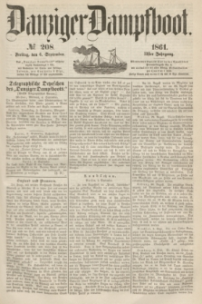 Danziger Dampfboot. Jg.31, № 208 (6 September 1861)
