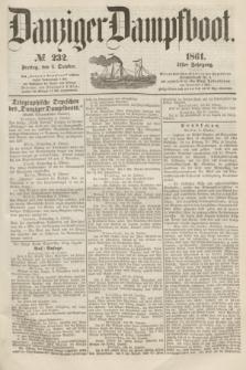 Danziger Dampfboot. Jg.31, № 232 (4 October 1861)
