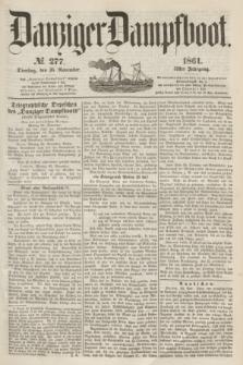 Danziger Dampfboot. Jg.31, № 277 (26 November 1861)