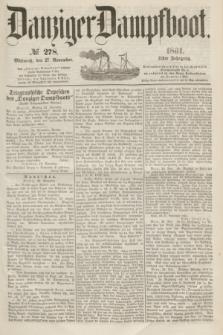 Danziger Dampfboot. Jg.31, № 278 (27 November 1861)