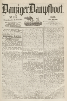 Danziger Dampfboot. Jg.31, № 279 (28 November 1861)