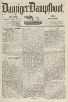 Danziger Dampfboot. Jg.31, № 289 (10 Dezember 1861)