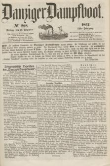 Danziger Dampfboot. Jg.31, № 298 (20 Dezember 1861) + dod.