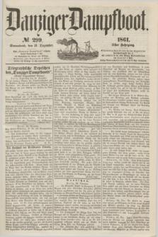 Danziger Dampfboot. Jg.31, № 299 (21 Dezember 1861)