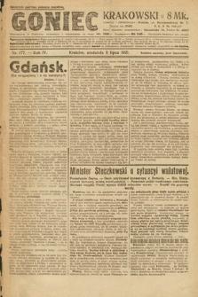 Goniec Krakowski. 1921, nr177