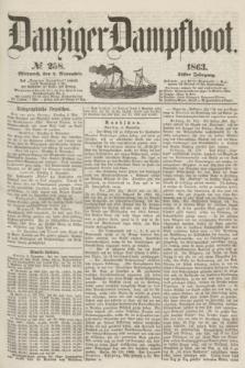 Danziger Dampfboot. Jg.34[!], № 258 (4 November 1863)