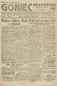 Goniec Krakowski. 1921, nr254
