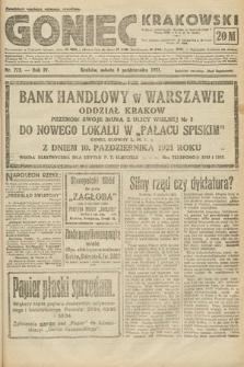 Goniec Krakowski. 1921, nr273