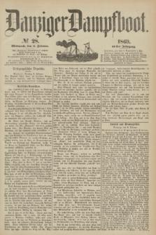 Danziger Dampfboot. Jg.40, № 28 (3 Februar 1869)