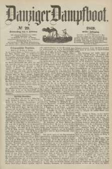 Danziger Dampfboot. Jg.40, № 29 (4 Februar 1869)