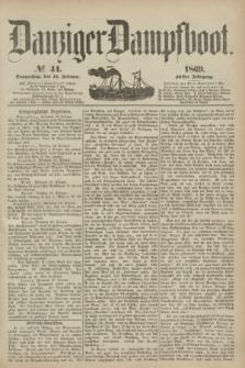 Danziger Dampfboot. Jg.40, № 41 (18 Februar 1869)