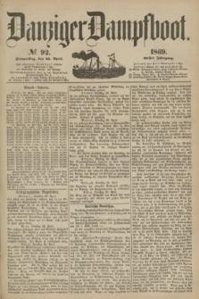 Danziger Dampfboot. Jg.40, № 92 (22 April 1869)