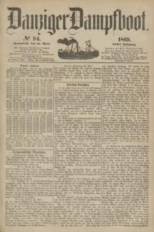 Danziger Dampfboot. Jg.40, № 94 (24 April 1869)