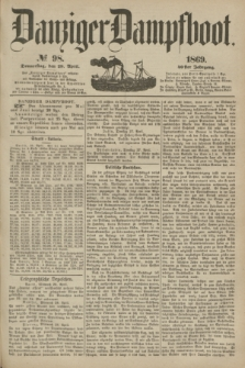 Danziger Dampfboot. Jg.40, № 98 (29 April 1869)