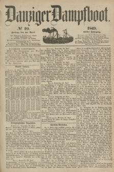 Danziger Dampfboot. Jg.40, № 99 (30 April 1869)