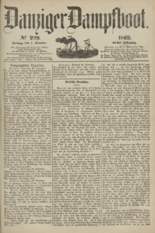 Danziger Dampfboot. Jg.40, № 229 (1 October 1869)