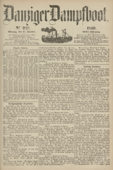 Danziger Dampfboot. Jg.40, № 237 (11 October 1869)