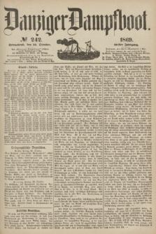 Danziger Dampfboot. Jg.40, № 242 (16 October 1869)