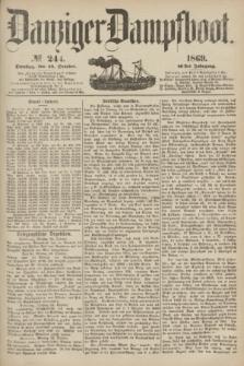 Danziger Dampfboot. Jg.40, № 244 (19 October 1869)