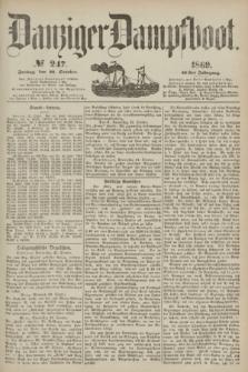 Danziger Dampfboot. Jg.40, № 247 (22 October 1869)