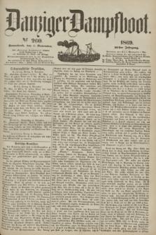 Danziger Dampfboot. Jg.40, № 260 (6 November 1869)