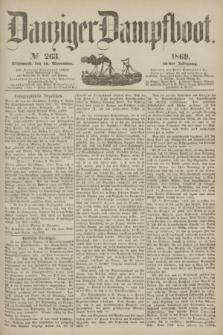 Danziger Dampfboot. Jg.40, № 263 (10 November 1869)