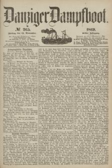 Danziger Dampfboot. Jg.40, № 265 (12 November 1869)