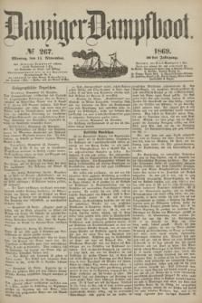Danziger Dampfboot. Jg.40, № 267 (15 November 1869)