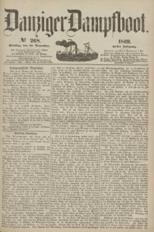 Danziger Dampfboot. Jg.40, № 268 (16 November 1869)