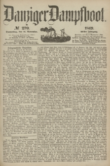 Danziger Dampfboot. Jg.40, № 270 (18 November 1869)