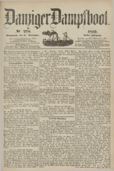 Danziger Dampfboot. Jg.40, № 278 (27 November 1869)