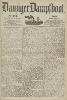 Danziger Dampfboot. Jg.40, № 287 (8 December 1869)