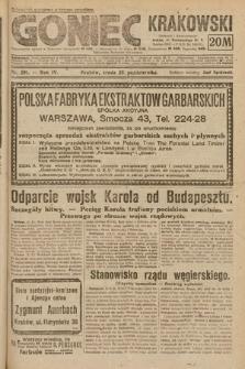 Goniec Krakowski. 1921, nr291