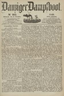Danziger Dampfboot. Jg.40, № 293 (15 December 1869)