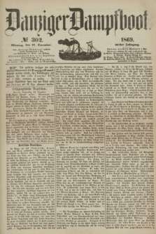 Danziger Dampfboot. Jg.40, № 302 (27 December 1869)