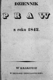Dziennik Praw. 1842 |PDF|