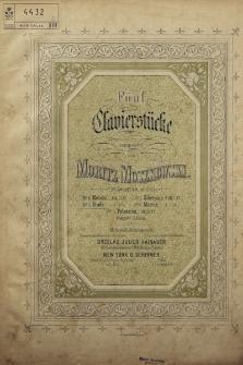 Fünf Clavierstücke : Op. 18. No 3, Etude