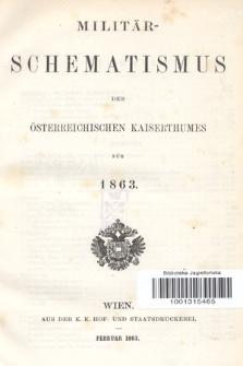 Militär-Schematismus des Österreichischen Kaiserthumes für 1863