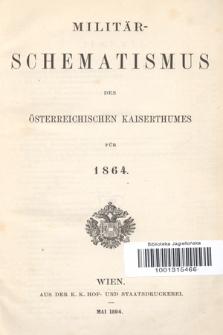 Militär-Schematismus des Österreichischen Kaiserthumes für 1864