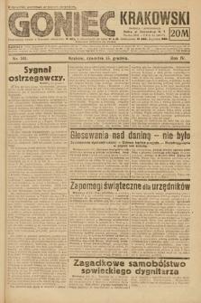 Goniec Krakowski. 1921, nr341