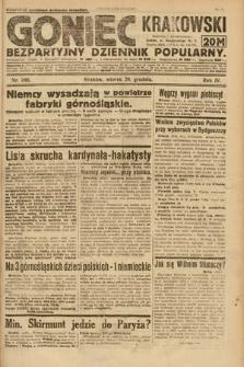 Goniec Krakowski : bezpartyjny dziennik popularny. 1921, nr346