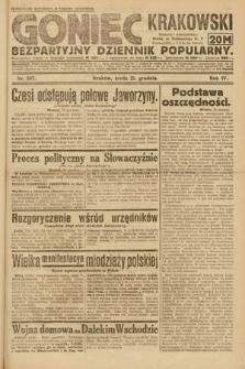 Goniec Krakowski : bezpartyjny dziennik popularny. 1921, nr347