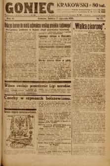 Goniec Krakowski. 1920, nr17