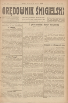 Orędownik Śmigielski. R.32, nr 12 (15 stycznia 1922)