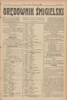 Orędownik Śmigielski. R.32, nr 22 (27 stycznia 1922)