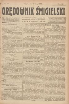 Orędownik Śmigielski. R.32, nr 37 (15 lutego 1922)
