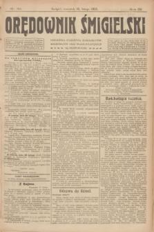 Orędownik Śmigielski. R.32, nr 38 (16 lutego 1922)