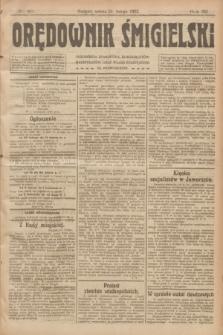 Orędownik Śmigielski. R.32, nr 46 (25 lutego 1922)