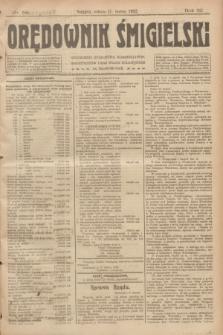 Orędownik Śmigielski. R.32, nr 58 (11 marca 1922)